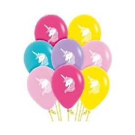 Globos latex Unicornio colores surtidos (12)