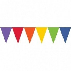 Banderines Triangulos Color Multicolor (4,5 m aprox)