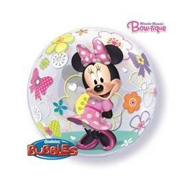 Globo Minnie Rosa Burbuja Bubble de 56cm