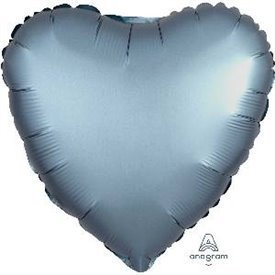 Globo Corazon color satin Azul Acero de 45cm3681401 Anagram