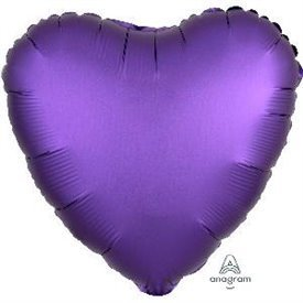 Globo Corazon color satin Morado Royal de 45cm3681801 Anagram