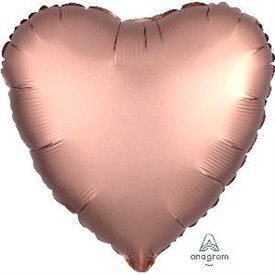 Globo Corazon color satin Rosa Dorado de 45cm3682501 Anagram