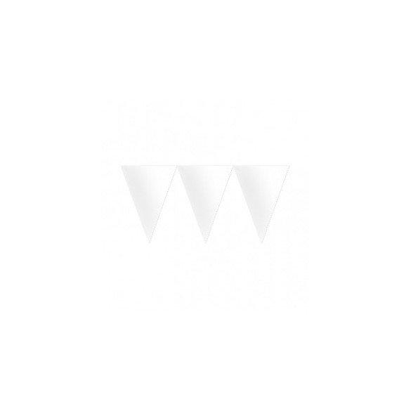 ✅Banderines Triangulos Color Blanco (4,5 m aprox) por solo 2,20€ en Masfiesta.es. Venta de Artículos de fiesta y decoración
