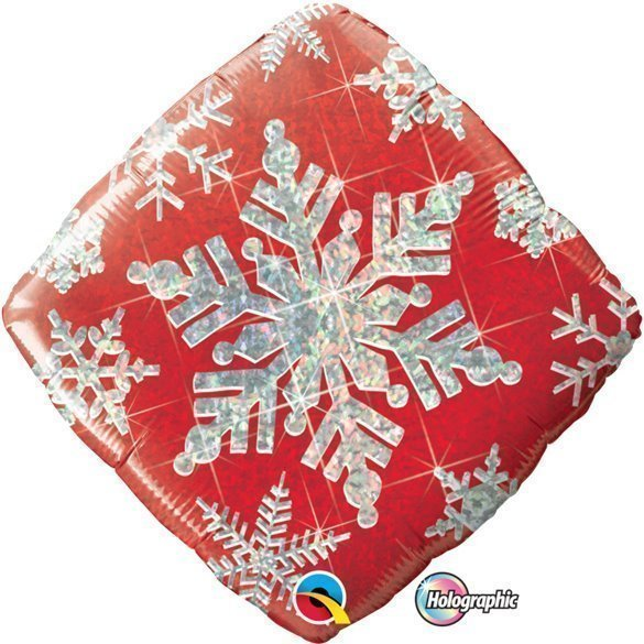✅Globo Foil Copo de Nieve rojo de 46cm por solo 3,59€ en Masfiesta.es. Venta de Artículos de fiesta y decoración