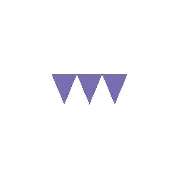 ✅Banderines Triangulos Color Morado (4,5 m aprox) por solo 2,47€ en Masfiesta.es. Venta de Artículos de fiesta y decoración