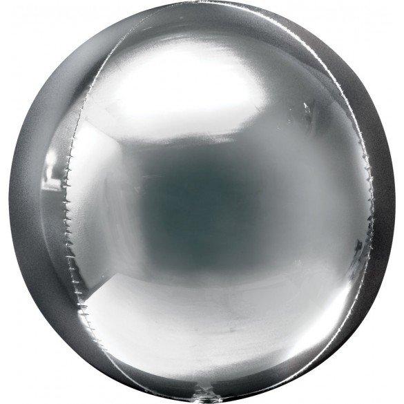Globo Forma Esfera de 40 cm Color PLATA