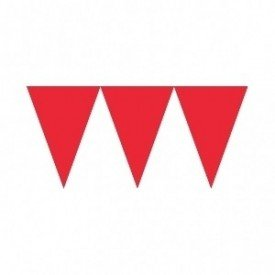 Banderines Triangulos Color Rojo (4,5 m aprox)
