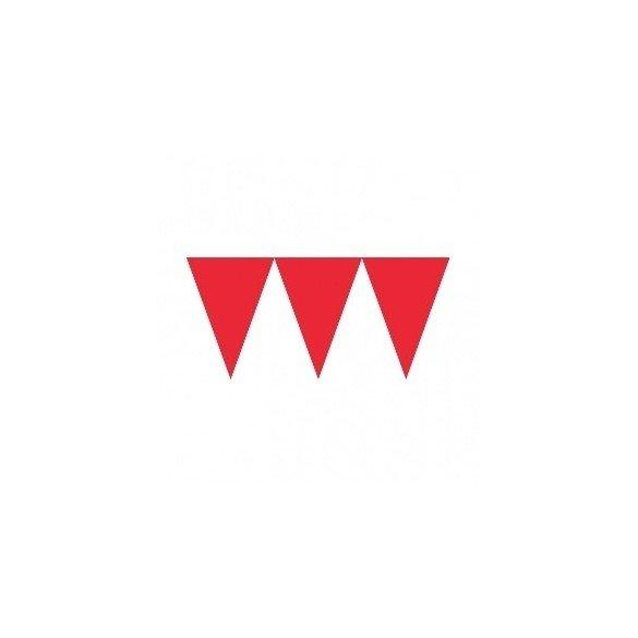 ✅Banderines Triangulos Color Rojo (4,5 m aprox) por solo 2,25€ en Masfiesta.es. Venta de Artículos de fiesta y decoración