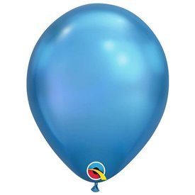 "Globos CHROME QUALATEX Blue de 11""- 28cm (25)"