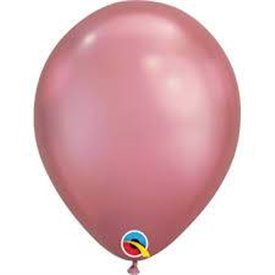 "Globos CHROME QUALATEX Mauve de 11""- 28cm (25)"