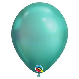 "Globos CHROME QUALATEX Green de 11""- 28cm (25)"