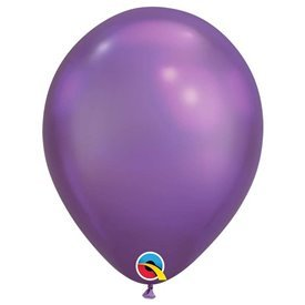 "Globos CHROME QUALATEX Purple de 11""- 28cm (25)"
