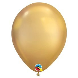 "Globos CHROME QUALATEX Gold de 11""- 28cm (100)"