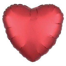 Globo Corazon color satin Sangria de 45cm