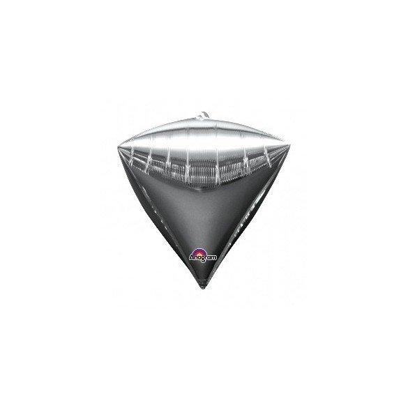 ✅Globo Forma Diamante Color PLATA por solo 4,49€ en Masfiesta.es. Venta de Artículos de fiesta y decoración