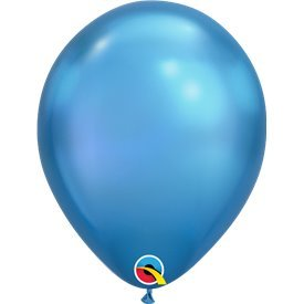 "Globos CHROME QUALATEX Blue de 11""- 28cm (100)QL-58272 Qualatex"