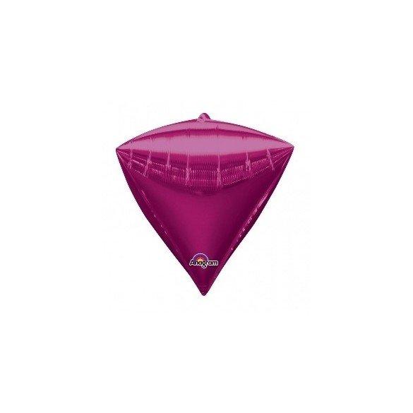 Globo Forma Diamante de 43 cm aprox Color FUCSIA