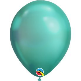 "Globos CHROME QUALATEX Green de 11""- 28cm (100)"