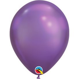 "Globos CHROME QUALATEX Purple de 11""- 28cm (100)"