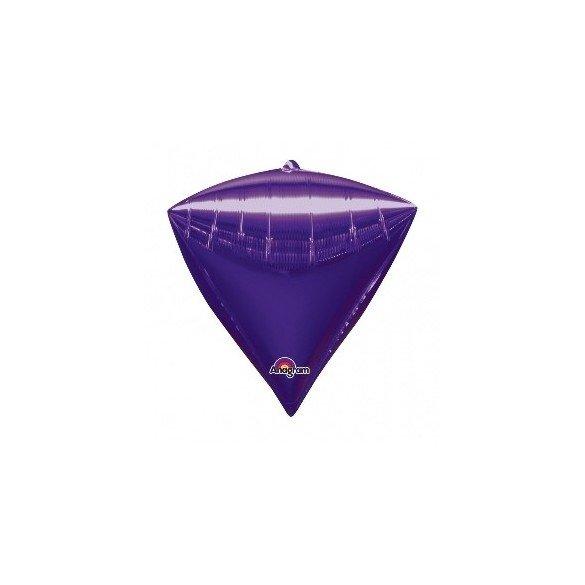 ✅Globo Forma Diamante de 43 cm aprox Color MORADO por solo 4,99€ en Masfiesta.es. Venta de Artículos de fiesta y decoración