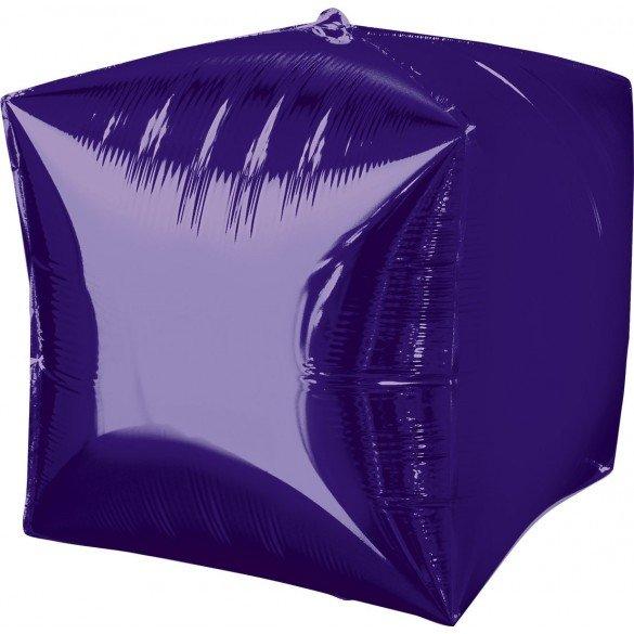 Globo Forma Cubo de 38 cm aprox Color MORADO