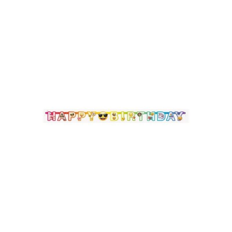✅Guirnalda Happy Birthday Emoji por solo 3,11€ en Masfiesta.es. Venta de Artículos de fiesta y decoración