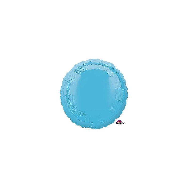 Globo Con Forma de Circulo de Aprox 45cm Color Azul Caribe