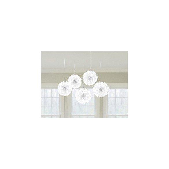 ✅Farolillos Abanico color Blanco (5 de 15,2 cm) por solo 2,66€ en Masfiesta.es. Venta de Artículos de fiesta y decoración