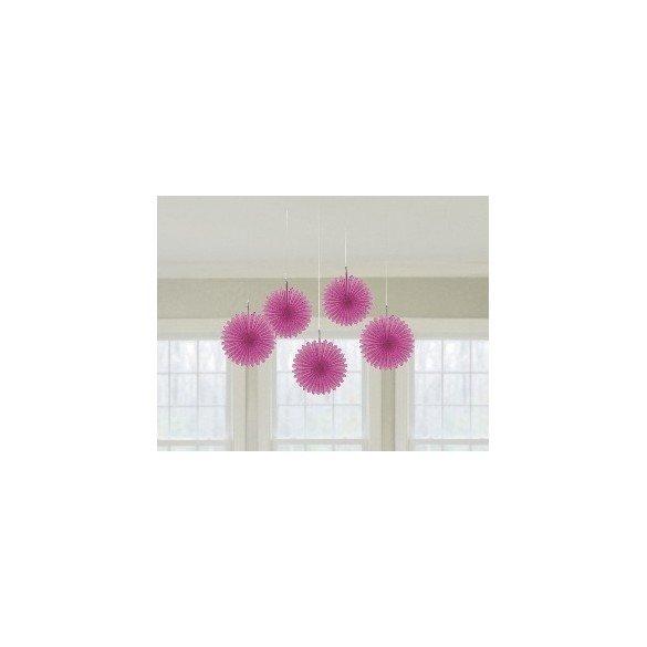 ✅Farolillos Abanico color Rosa (5 de 15,2 cm) por solo 2,65€ en Masfiesta.es. Venta de Artículos de fiesta y decoración