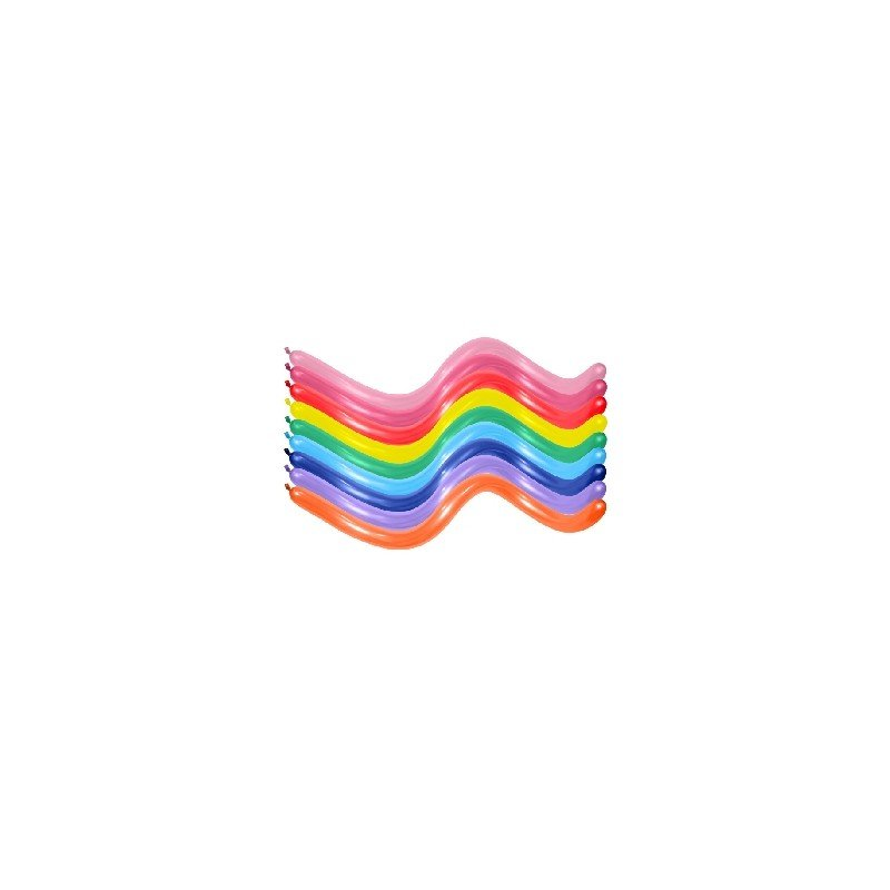Globos Moldeables de (360) 7,5 cm x 15 cm Color Surtidos Solidos (20 ud)