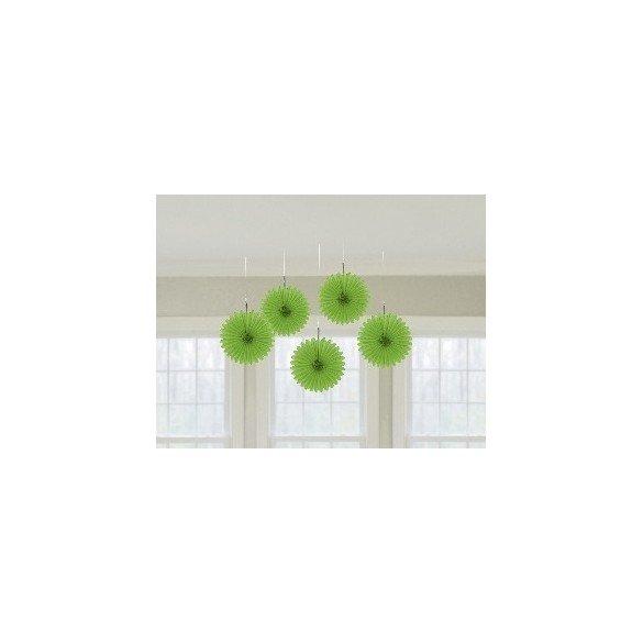✅Farolillos Abanico color Verde (5 de 15,2 cm) por solo 2,65€ en Masfiesta.es. Venta de Artículos de fiesta y decoración
