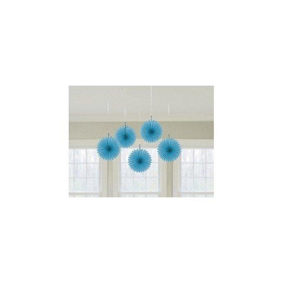 ✅Farolillos Abanico color Azul Caribe (5 de 15,2 cm) por solo 2,95€ en Masfiesta.es. Venta de Artículos de fiesta y decoración