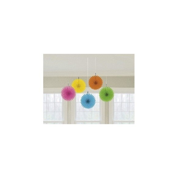 ✅Farolillos Abanico color Multicolor (5 de 15,2 cm) por solo 2,95€ en Masfiesta.es. Venta de Artículos de fiesta y decoración