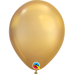 "Globos CHROME QUALATEX Gold de 11""- 28cm (25)"
