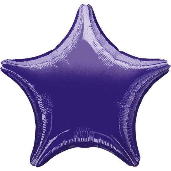✅Globo Con Forma de Estrella de Aprox 47cm Color MORADO - por solo 1,35€ en Masfiesta.es. Venta de Artículos de fiesta y dec...