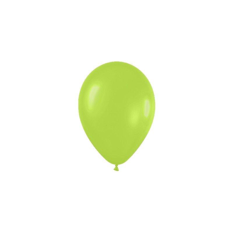 Globos (R-5) de 13 cm aprox Color Verde Neon (100 ud)