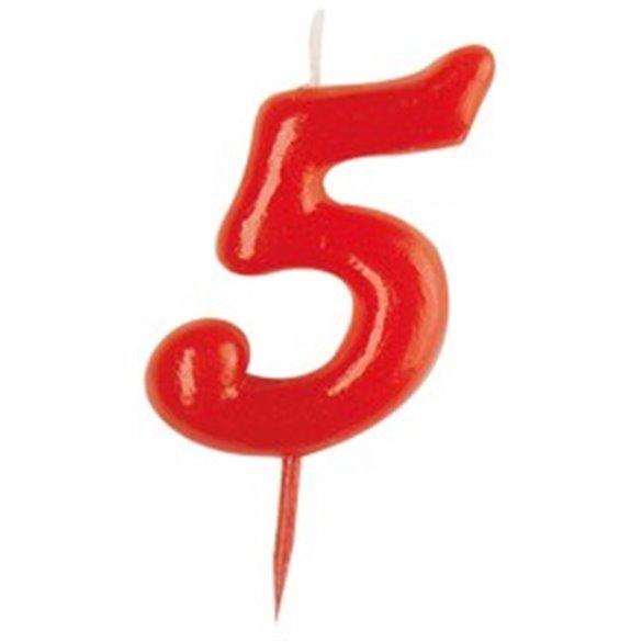 Vela Simple Roja Nº5