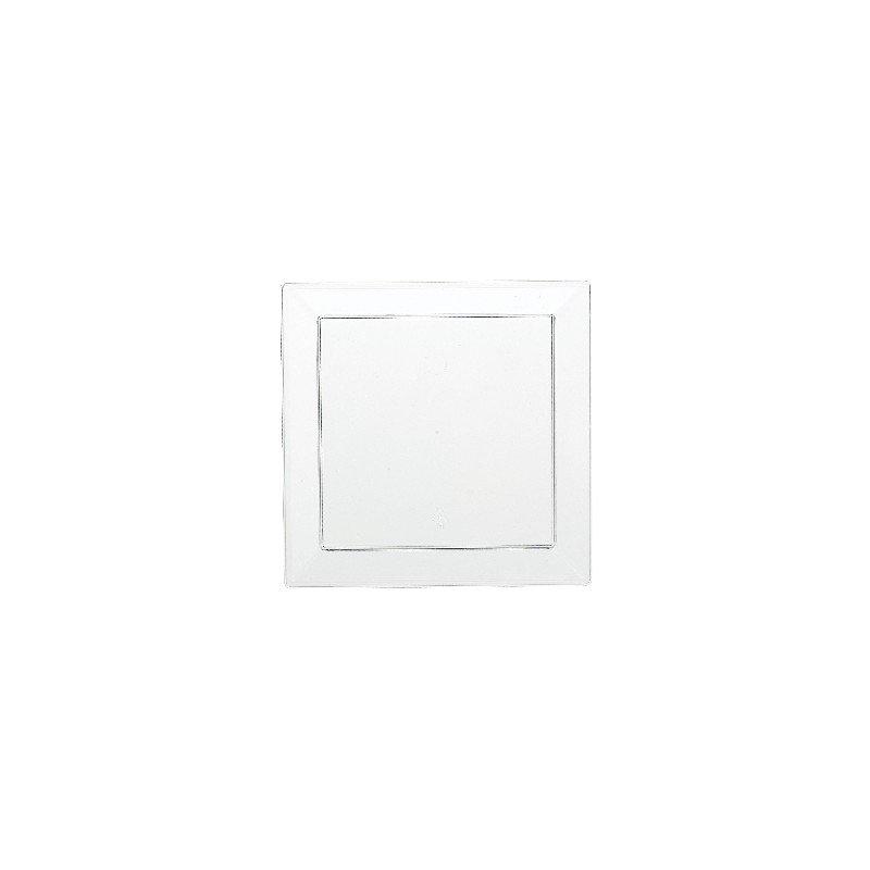 Platos de aperitivos cuadrados 12,7 cm (10) transparente