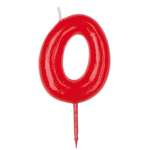 ✅Vela Simple Roja Nº0 por solo 0,72€ en Masfiesta.es. Venta de Artículos de fiesta y decoración