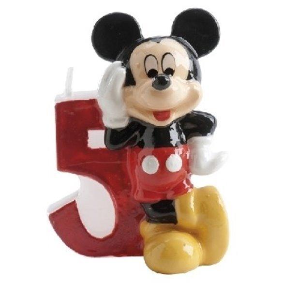 ✅Velas Mickey 5 por solo 2,21€ en Masfiesta.es. Venta de Artículos de fiesta y decoración