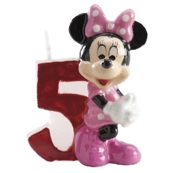 ✅Velas Minnie 5 por solo 2,33€ en Masfiesta.es. Venta de Artículos de fiesta y decoración