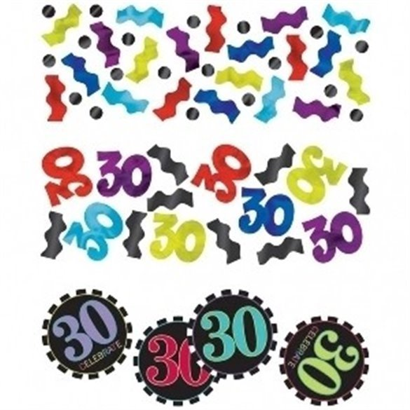 Confeti Chevron 30 Cumpleaños