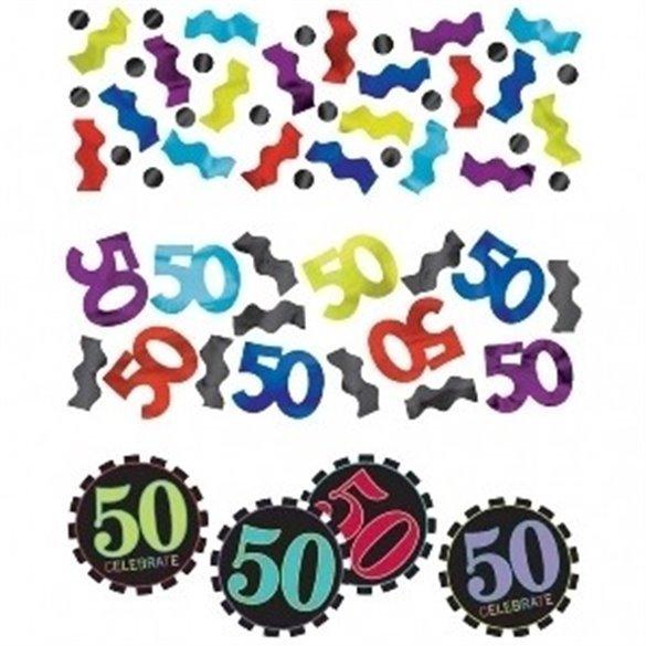 ✅Confeti Chevron 50 Cumpleaños por solo 3,09€ en Masfiesta.es. Venta de Artículos de fiesta y decoración