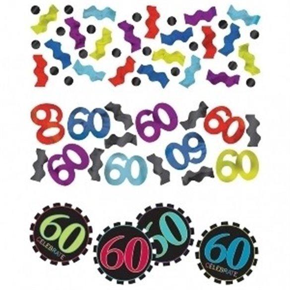 ✅Confeti Chevron 60 Cumpleaños por solo 2,09€ en Masfiesta.es. Venta de Artículos de fiesta y decoración
