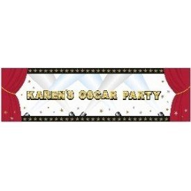 Banderin Hollywood de 165 x 50,8 cm Personalizable