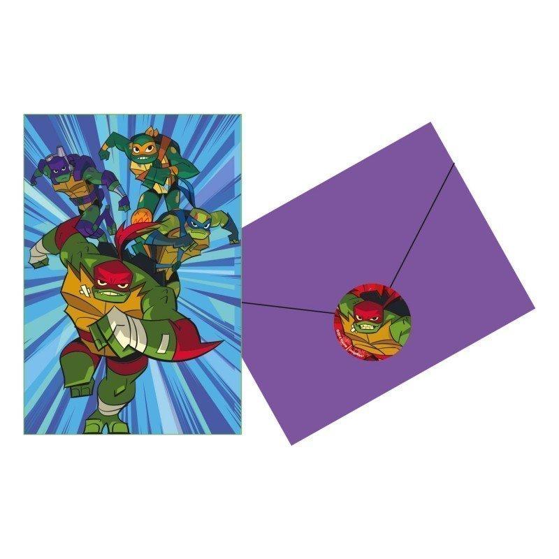 Invitaciones de las Tortugas Ninja Power (6)
